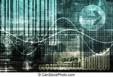 Blue Business System Abstract Background