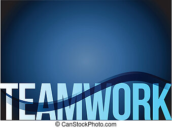 blue business teamwork wave