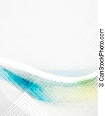 Blue business tech blur design