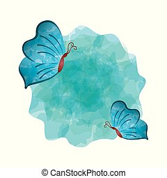 blue butterflies icon