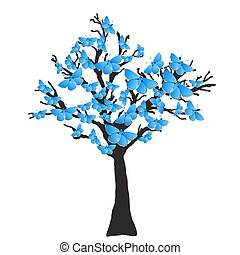 Blue Butterfly Tree