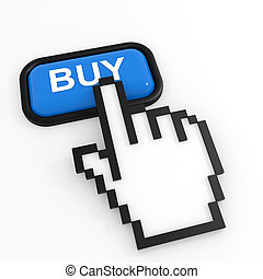 Blue button BUY with hand cursor.