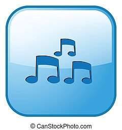 blue button communication icon