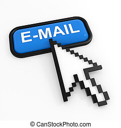 Blue button E-MAIL with arrow cursor.