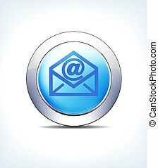 Blue Button email Vector Icon