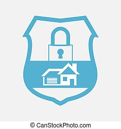 blue button home security lock