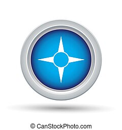Blue Button Icon