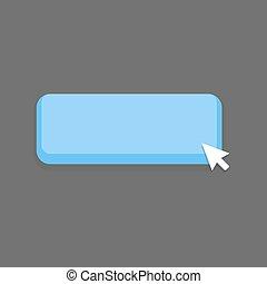 Blue Button mouse click vector illustration