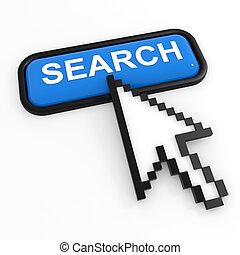 Blue button SEARCH with arrow cursor.
