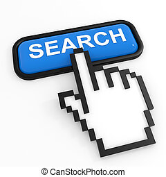 Blue button SEARCH with hand cursor.