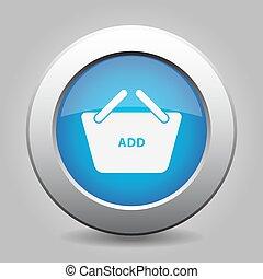 blue button shopping basket add