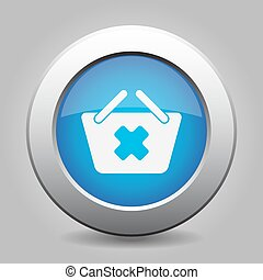 blue button - shopping basket cancel
