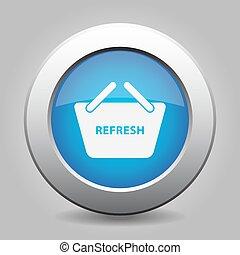 blue button shopping basket - refresh