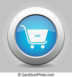 blue button shopping cart add