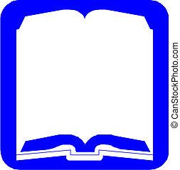 Blue button vector book