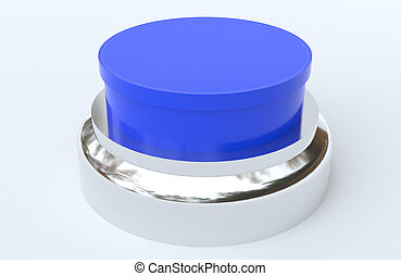 Blue Button with Chrome surround
