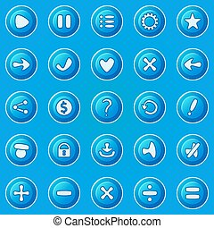 Blue buttons for game UI