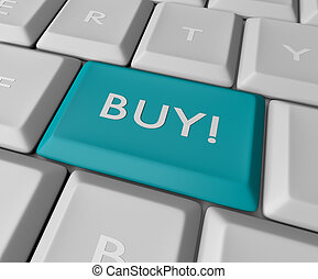 Blue Buy Key Button - A green button reading go on a white ...