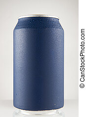 Blue can of soda