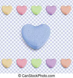 Blue candy heart