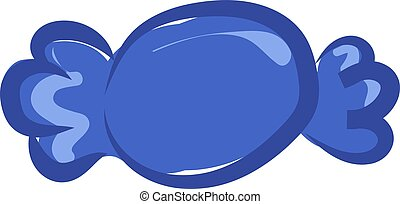 Blue candy, illustration, vector on white background.