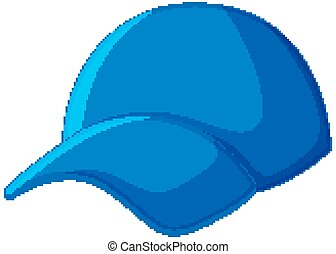 Blue cap in cartoon style isolated on white background