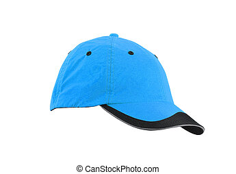 Blue cap isolated on white