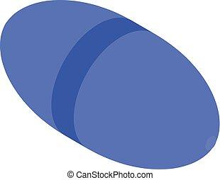 Blue capsule icon, isometric style