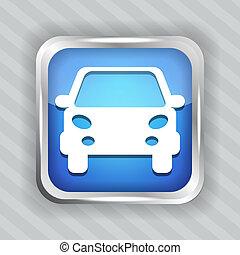 blue car button icon