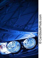 Blue Car Concept Photo