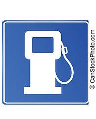 Blue car fuel signal, vector, eps 10, no mesh, gradient
