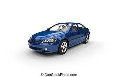 Blue Car Perspective shot