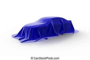 blue car presentation