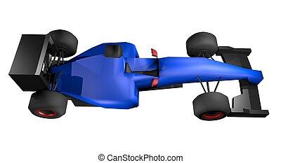 Blue car speed
