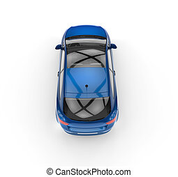 Blue Car Top View