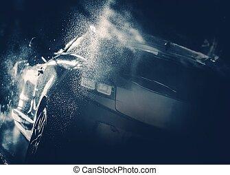 Blue Car Wash Concept