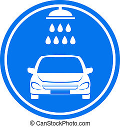 blue car wash icon