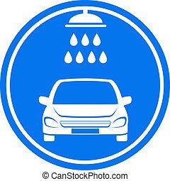 blue car wash icon