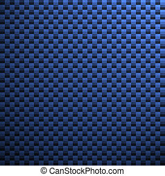Blue Carbon Fiber - A high-res, blue carbon fiber pattern /...