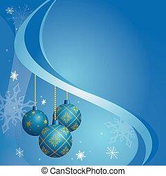 blue card for christmas holidays