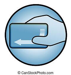 Blue card icon - Creative design of blue card icon