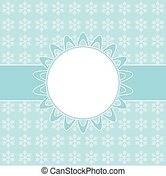 Blue card with Christmas snowflakes
