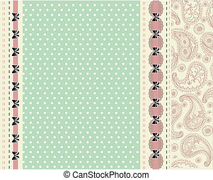 Blue card with floral pattern