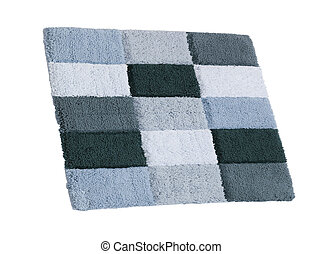 blue carpet Isolated on white background