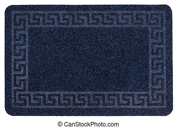 blue carpet Isolated