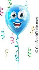 Blue cartoon balloon character