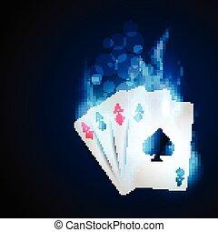 blue casino card