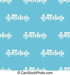 Blue Casino logo pattern