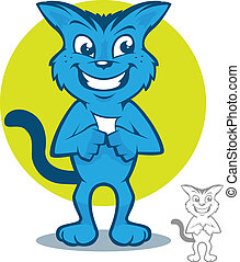 Blue Cat Cartoon