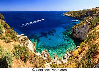 Blue caves coast